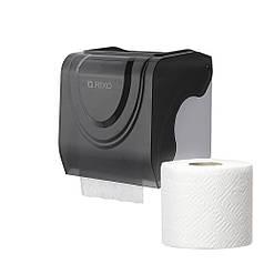 Диспенсер для туалетной бумаги в стандартных рулонах Rixo Bello P247TB черный пластиковый прочный
