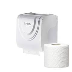 Диспенсер рулонной стандартной туалетной бумаги Rixo Bello P247W белый пластиковый настенный