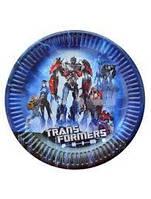 Тарелочка праздничная для детского дня рождения Трансформеры
