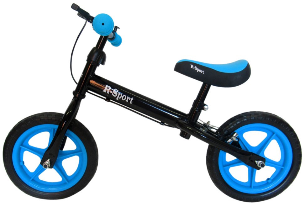 Беговел R-Sport R4 колеса 12 пена тормоз черно-синий
