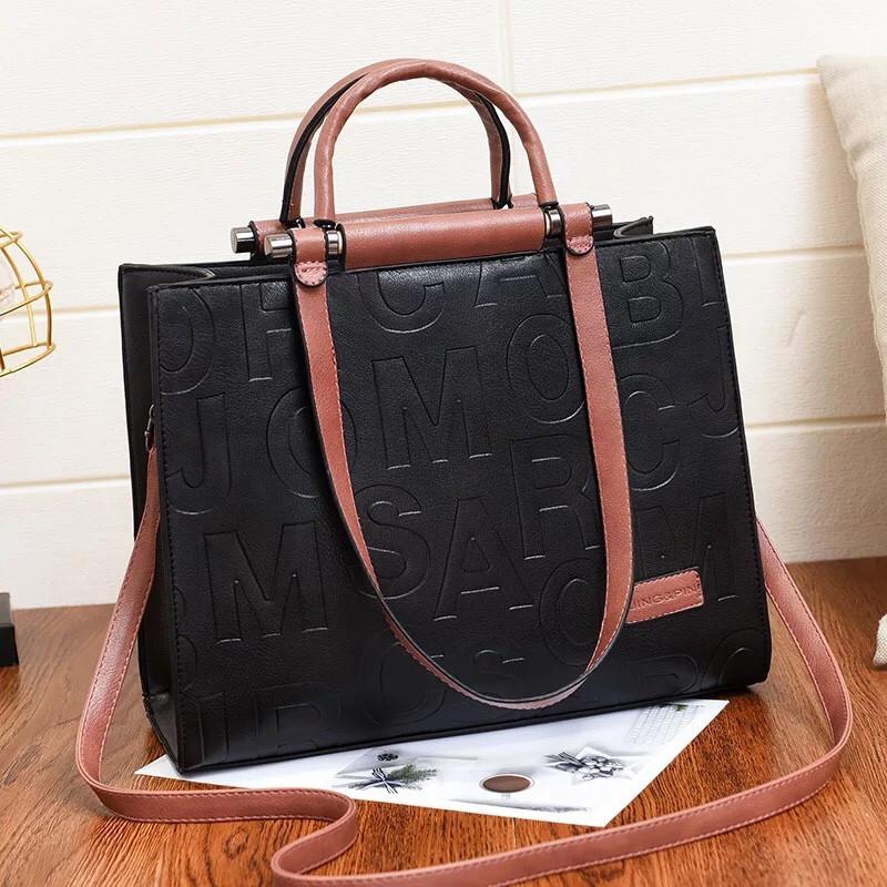 Большая женская сумка Jing&Pin Messenger розовая