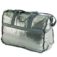 Дорожная женская сумка серо-коричневая TRAUM