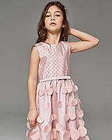 """Нарядное платье для девочки, """"Горох 3D"""""""