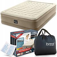Надувна двоспальне ліжко 152*203*46см з вбудованим насосом 64428