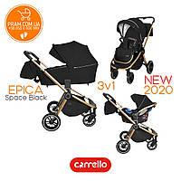 CARRELLO EPICA CRL-8511 универсальная коляска 3 в 1 Space Black Черный