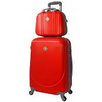 Комплект Bonro Smile чемодан + кейс средний, красный