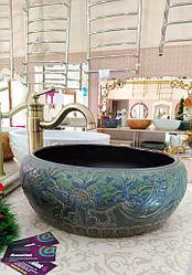 Декоративная накладная чаша, умывальник круглый 00196