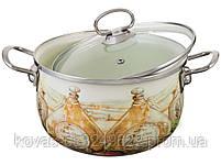 Набор эмалированных кастрюль + чайник Edenberg- 8 предметов, фото 2
