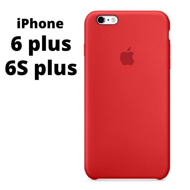 Силиконовый чехол iPhone 6 plus / 6S plus красный