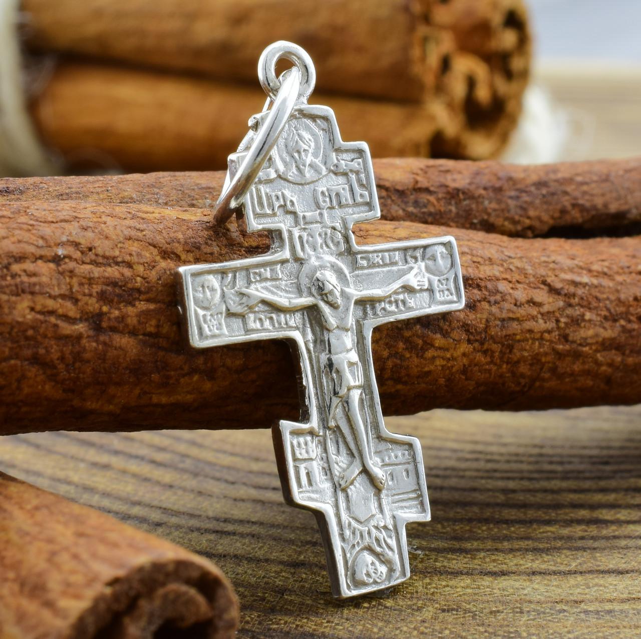 Серебряный крестик Старокиевский размер 31х16 мм вес 1.5 г