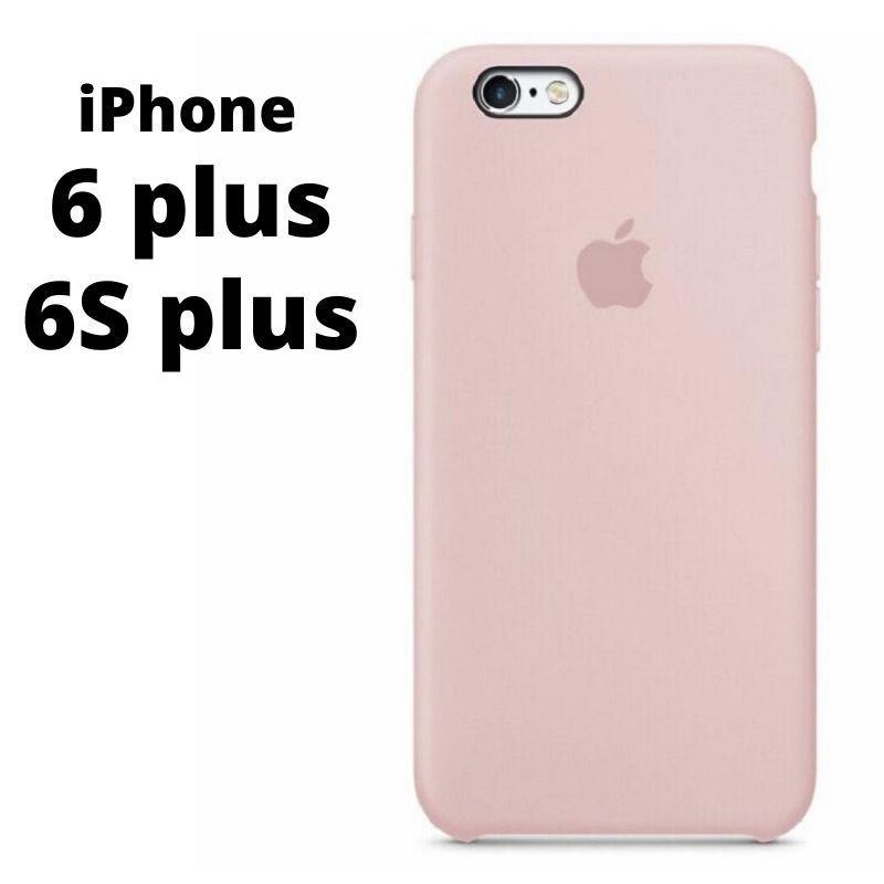Силиконовый чехол iPhone 6 plus / 6S plus Pink Sand розовый