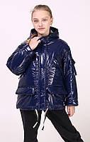 Куртка - сумка- оверсайз демисезонная для девочек, рост 140 - 158 см в четырёх цветах - S2821