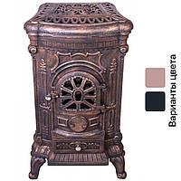 Чугунная печь камин буржуйка Bonro 9 кВт золотая (чавунна піч камін Бонро)