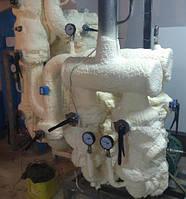 Теплоизоляция оборудования пенополиуританом (50 мм)