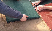 Укладка резиновой плитки всех видов