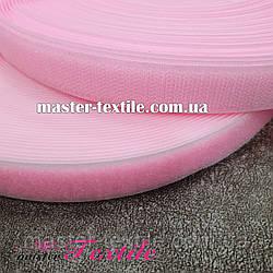 Липучка текстильная 20 мм, 25 метров (розовый)