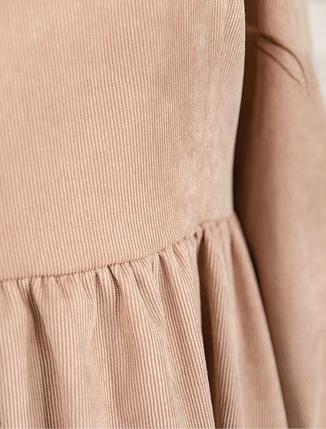 Бежевое вельветовое платье Украина батал Размеры:  52-54, фото 2