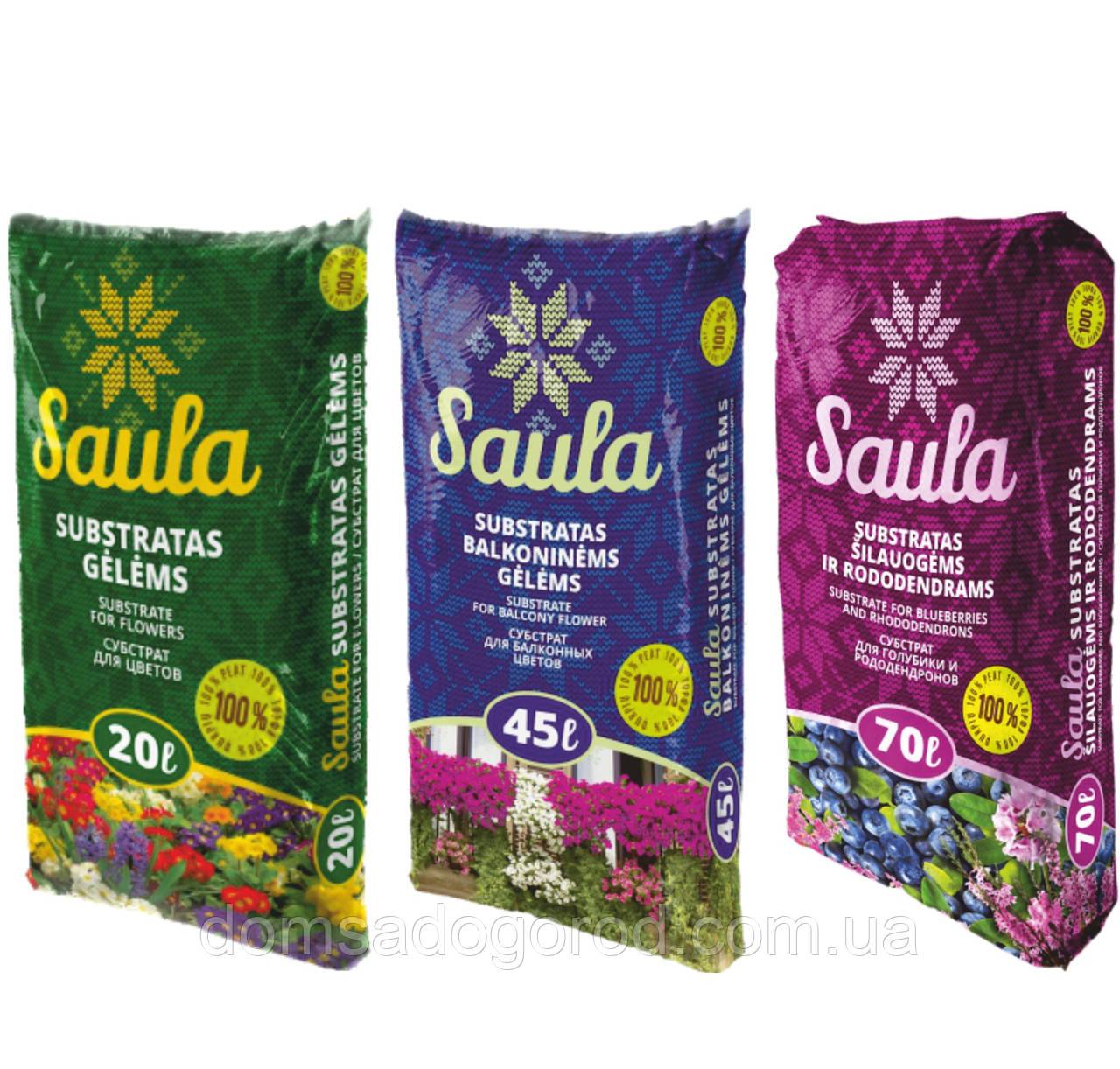 Торфяной субстрат  Saula для цветов 0-20 мм 20 л