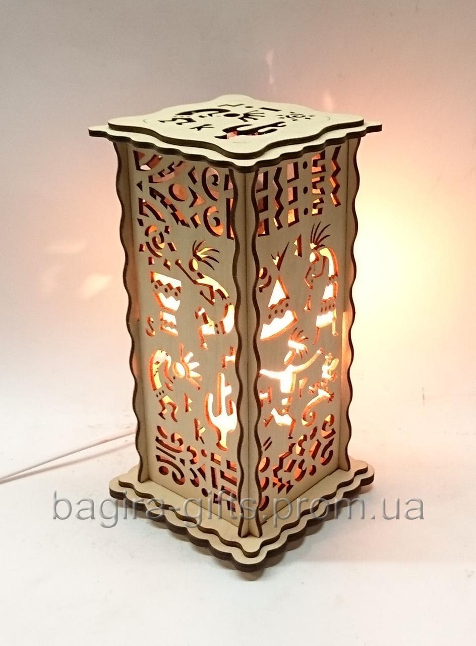 Соляной светильник Прямоугольный Индейцы