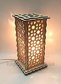 Соляной светильник Прямоугольный Узор-Б2