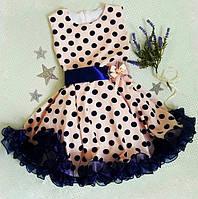 """Нежное нарядное платье в ретро стиле стиляги """"Ирен"""" 134-140"""