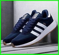 Кроссовки Мужские Adidas Iniki Runner Boost Синие Адидас (размеры: 43) Видео Обзор