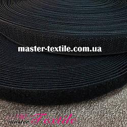 Липучка текстильна 25 мм, 25 метрів (чорна)