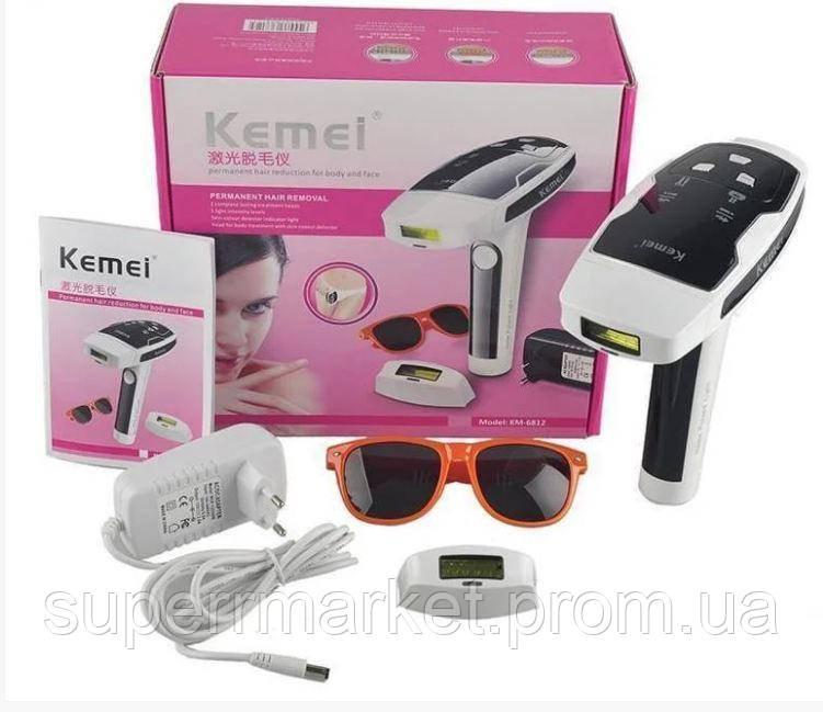 Kemei KM-6812 лазерный фото-эпилятор