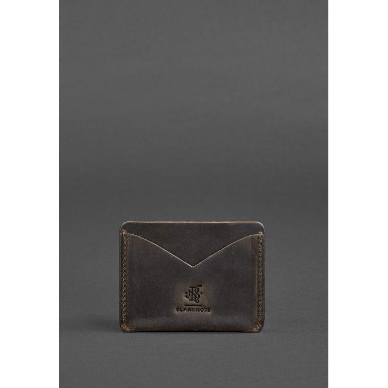 Кожаная визитница 5.0 темно-коричневая