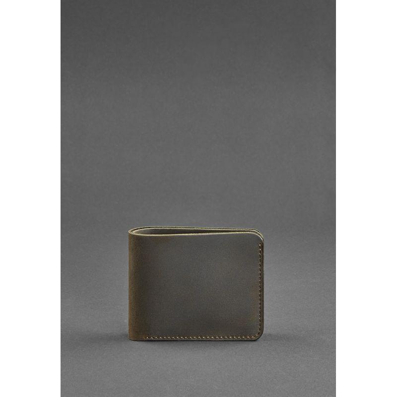 Мужское кожаное портмоне 4.1 (4 кармана) темно-коричневое