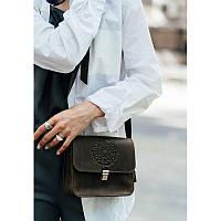 Кожаная женская бохо-сумка GS Лилу темно-коричневая