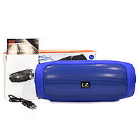 ✕Переносная колонка LZ Charge 4 Blue компактная акустика для дома музыки функция Bluetooth Power bank, фото 8