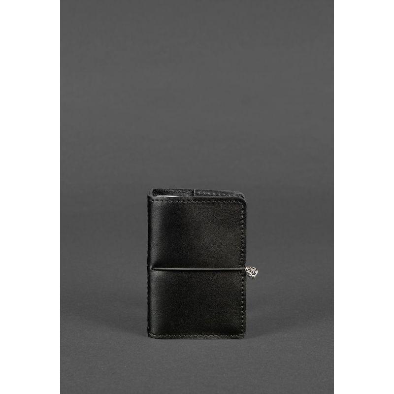 Кожаный кард-кейс 7.0 угольно-черный