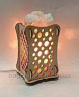 Соляний світильник Дерев'яний камін Кульки, фото 1