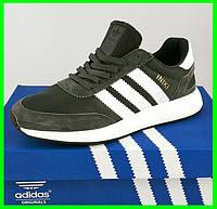 Кроссовки Мужские Adidas Iniki Runner Boost Серые Адидас (размеры: 41,42,43,44) Видео Обзор