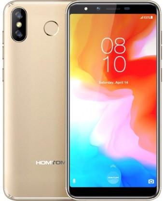 "Смартфон Homtom H5 3/32Gb Gold, 13+2/8Мп, 4 ядра, 2sim, экран 5.7"" IPS, 3300mAh, GPS, 4G, MT6739"