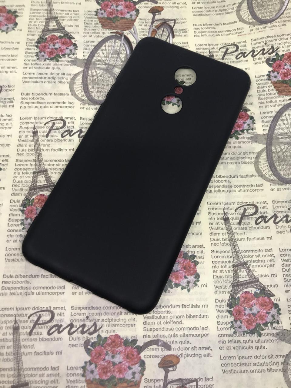 Чехол / бампер / накладка для Xiaomi Redmi 5 цветной силиконовый матовый черный