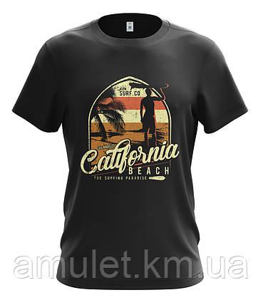 """Футболка мужская черная """"Калифорния"""", фото 2"""