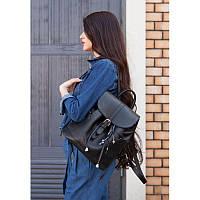 Кожаный женский рюкзак GS Олсен черный