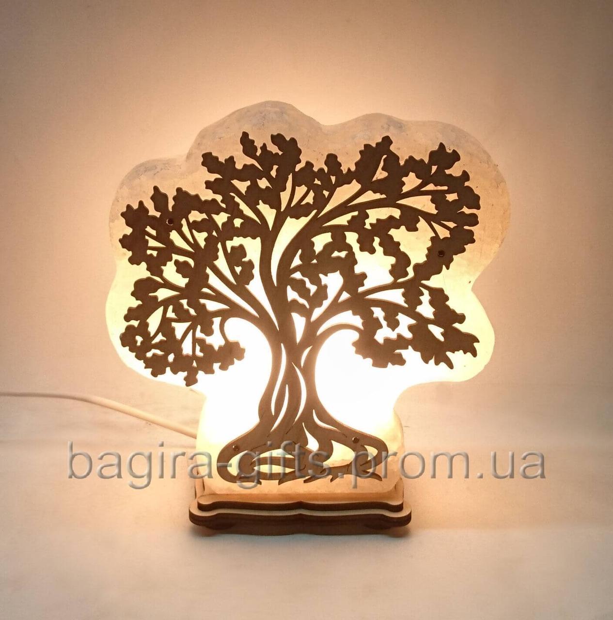 Соляной светильник - Дерево ночник с регулятором яркости димером