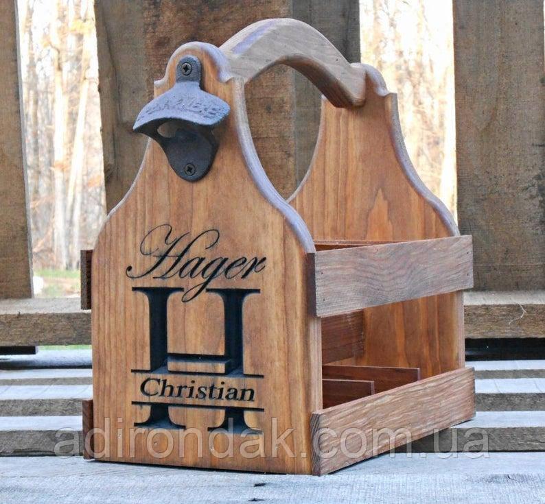 Ящик для переноски бутылок с гравировкой