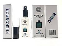 Парфюм миниатюра Тестер в подарочной упаковке VERSACE EROS 60 мл в цветной упаковке с феромонами реплика
