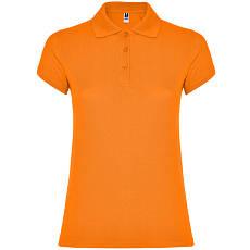 Женская рубашка-поло, оранжевый, ROLY Star W200, размеры от S до XXL, плотность 200 г/м2