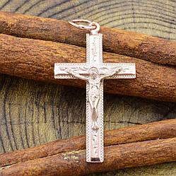 Серебряный крестик Православный Спаси и Сохрани размер 40х19 мм вес 2.2 г