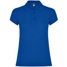 Женская рубашка-поло, ярко-синий, ROLY Star W200, размеры от S до XXL, плотность 200 г/м2