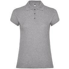 Женская рубашка-поло, серый, ROLY Star W200, размеры от S до XXL, плотность 200 г/м2