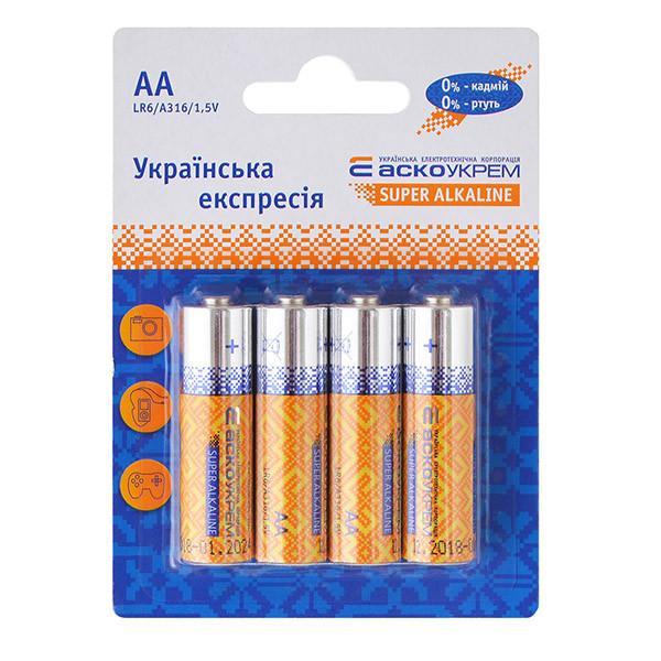 Батарейка АСКО-УКРЕМ Super Alkaline AА 4 шт