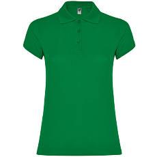 Женская рубашка-поло, зеленый, ROLY Star W200, размеры от S до XXL, плотность 200 г/м2