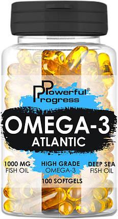 Жирні кислоти Powerful Progress Atlantic Omega-3 90 caps, фото 2