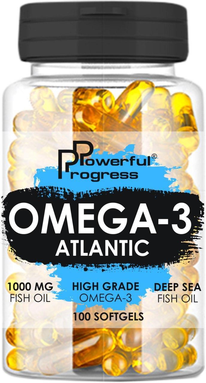 Жирні кислоти Powerful Progress Atlantic Omega-3 90 caps